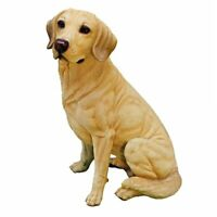 Golden Labrador Retriever Design Toscano Exclusive Hand Painted Dog Statue