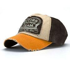 Gorra de beisbol de Hip-Hop de visera llana ajustable, Amarillo B9N4