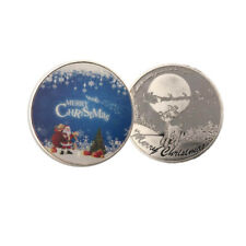 Festival Gifts Santa Claus 999.9 Silver Coin Christmas Metal Coins Collections
