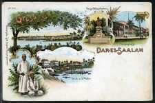 DOA  farbige  Litho Karte   Dar-Es-Saalam