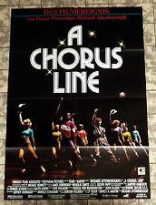 A CHORUS LINE - A1-Filmposter - German 1-Sheet Poster Tanzfilm Dance 1985