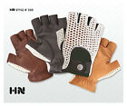 MENS CLASSIC DRIVING GLOVES SOFT LEATHER COTTON CROCHET BACK VINTAGE MOTOR BIKE
