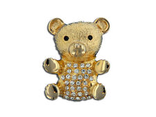 Eisenberg Ice Crystal Teddy Bear Brooch - Pin