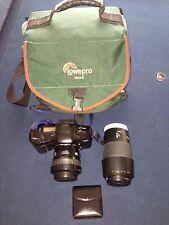Minolta Maxxum 7xi AF 35mm Film Camera With Lenses And Case