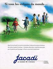 PUBLICITE ADVERTISING 035  1996  JACADI  vetements enfants