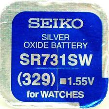 Seiko 329 (SR731SW) ossido di argento (0% HG) Il mercurio libero Orologio BATTERIA MADE IN JAPAN