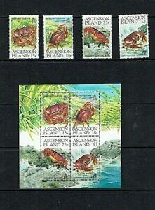 Ascension Island: 1989, Land Crabs, MNH set + M/s