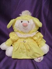 """Fisher Price Puffalumps Lamb Sheep Yellow Dress #8005  15"""" 1986 Quaker Oats Co."""
