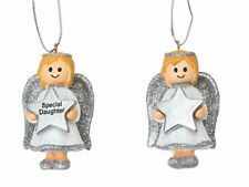 Angel Girl Silver Decoration or Gift Tag - Personalised *ANYNAME* Any Name