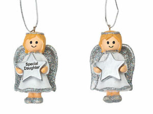 Angel Girl Silver Decoration - Gift Tag - Personalised ANY NAME Printed by Suki