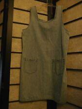 MARSH LANDING sz SMALL 100% Cotton Denim Jumper Dress
