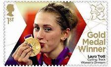 UK Team GB Gold Medal Winner Single Stamp - Laura Trott MNH 2012
