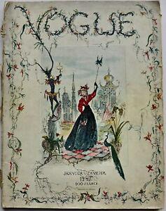 1947 Vogue Paris 40s vintage Paris couture fashion hats John Rawlings Gruau
