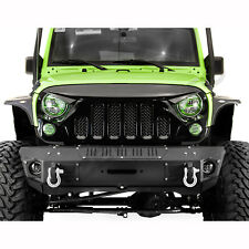 Angry bird 2 Gloss Black Full Replacement Mesh Grille for 07-17 Jeep Wrangler JK