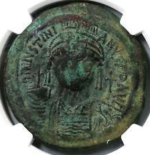 540 Justinian I Byzantine Dated Follis Constantinople Mint Ngc Vf (19081201C)