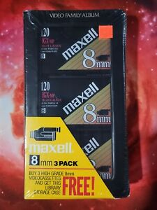 Maxell 8mm HGX-MP 3-PACK Factory Sealed