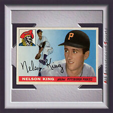 1955 Topps NELSON KING #112 EXMT+ *awesome baseball card for your set* SD1q