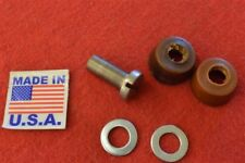 3561-12K HARLEY JD VL OIL PUMP PLUNGER SCREW & LEATHER CUPS ALL 1912-1935