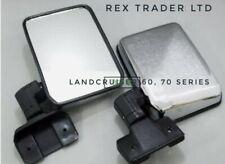 2 × Side Mirrors for Landcruiser 60,70 Series R+L BJ60, BJ70, RJ70, Chrome 80-03