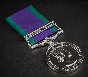 Full Size Replica GENERAL SERVICE MEDAL. Northern Ireland Clasp. Silver. GSM