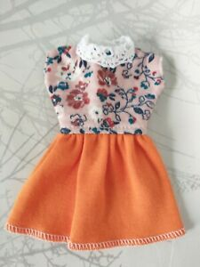 """Handmade Dress """"Vintage Look"""" for Barbie, Sindy doll size. Dress only."""