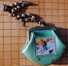VINTAGE CHILD'S DELSA CHARM BRACELET & ONE HOLOGRAM PHOTO CHANGE PURSE