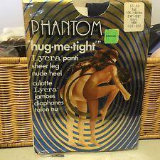 vintage Phantom Lycra tights nude pantyhose w/ model  med navy