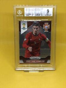 2014 Panini Prizm World Cup #161 Cristiano Ronaldo Portugal Bgs 9 Mint Graded