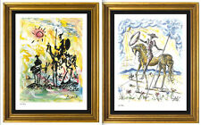 "2 ""Don Quixote"" Signed/Numbered Ltd Ed Prints Picasso & Salvador Dali (unframed)"