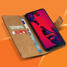 Handyhülle Huawei P20 Pro Schutzhülle Tasche Echte Leder Flip Case Book Cover
