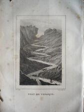 GRAVURE ORIGINALE  1860 PORT DE VENASQUE