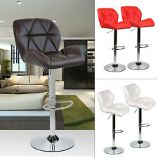 Set of 2 Bar Stools Swivel Pu Leather Seat Luxury Counter Height Lift Bar Chairs