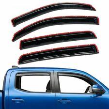 For 2016-2020 Toyota Tacoma 4pc Smoke Window Sun Rain Visors Wind Guard Crew Cab