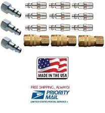 "(15 Pack) Milton 715 728 727 Air Hose Couplers M Style 1/4"" Plug Fitting Nipples"