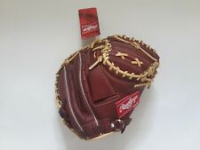 "Rawlings Gamer XLE Jr Baseball Glove GJW7GLE2 32.5"" Camel Wine RHT Catchers"