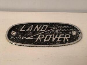 Vintage Landrover England oval badge - Solihull Warwickshire - military