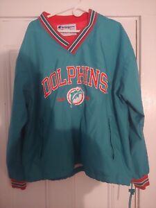 MIAMI DOLPHINS NFL Vintage Pullover Windbreaker Size L CHAMPION