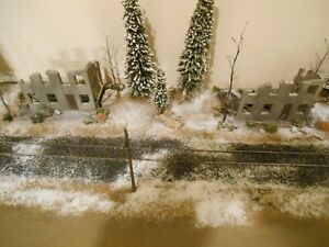 HO Roco Minitanks Custom Detailed Two WWII Bombed Buildings Weathered