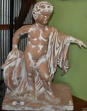 Neo-Classical Revival Style Statue Statue Eros with Wreath 77x60cm - Babi Goumas