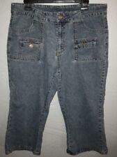 Sunshine Apparel Blue Jean Capris. Women's Plus Size 14W         F8