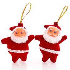 6 x Small Mini Red Santa Christmas Tree Decoration Hanging Drop UK