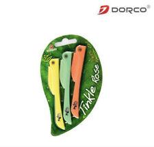 Dorco Genuine Tinkle Rose Folding Eyebrow Razor 3pcs(Made in Korea) AuStock