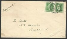 New Zealand WW1 KGV 1/2d WAR STAMP on 1916 cover