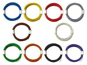 Litze Decoderlitze 0,04mm² LIVY flexibel dünn Kabel 100 Meter SET 10 Farben 10m