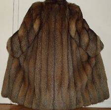 "Designer ANNE KLEIN 50"" Long Crystal Fox Fur Coat Size 8-10 FREE SHIP Excell Con"