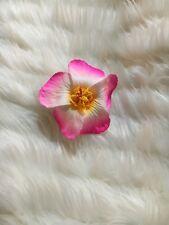 HAWAIIAN HIBISCUS 2 TONE PINK/WHITE FOAM FLOWER HAIRCLIP FANCY DRESS ACCESSORY