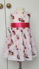 NEW HAND CRAFTED PINK MINNIE MOUSE SUMMER SUN DRESS 2-3 YEARS ROMANY TRADITIONAL