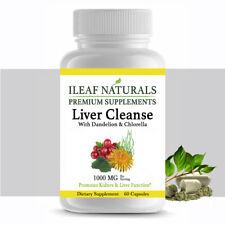 iLeafNaturals Liver Cleanse with Dandelion & Chlorella – 60 Veggie Capsules