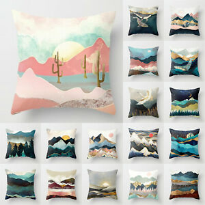 Pillow Case Cushion Cover Square Sofa Home Bedroom Car Waist Throw Decoration