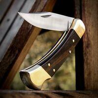 BUCK 110 Folding Hunter With Leather Sheath